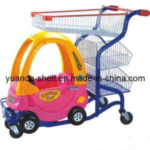 Children Supermarket Plastic Toy Seat Shopping Trolley pictures & photos