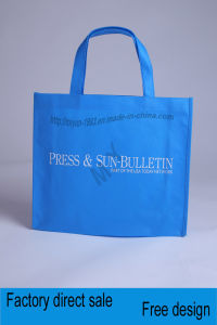 Non-Woven Multicolour Sewing, Printing Monochrome Advertising Handbag pictures & photos