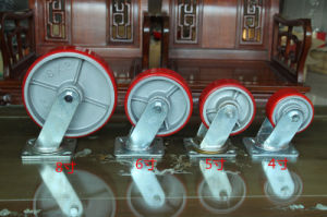 Swivel Caster with PU Wheel Cast Iron Core 50mm Wheel Width