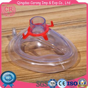 PVC Medical Disposable Anti-Slip Face Anaesthesia Mask pictures & photos