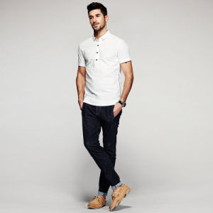 Men′s White Button up Slim Fit Cheap Wholesale Tailored Work Dress Shirt pictures & photos