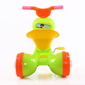 3 Color New Plastic Kids Tricycle with Foldable Frame pictures & photos