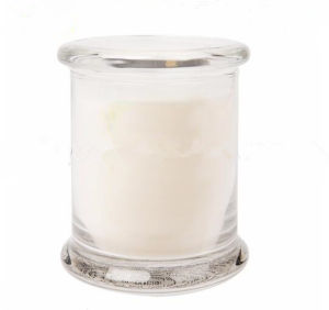 Scented Glass Jar for Candle with Glass Lid pictures & photos