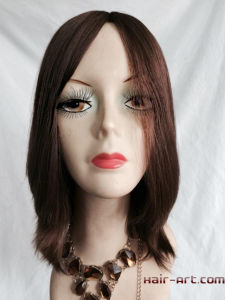 "Full Lace 100% Virgin European Hair Made Sheitels Kosher Wigs-12"" pictures & photos"