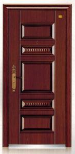 Deep Embossing Panel Design Steel Security Door pictures & photos