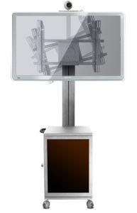 "Video / TV Conference Stand / Bracket 30-60"" Landscape & Portrait Cabinet Lockable pictures & photos"