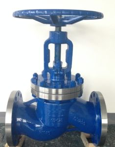 DIN Flanged Globe Valve Wcb Pn40 pictures & photos