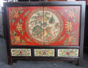 Antique Furniture Chinese Painted Cabinet Lwb788 pictures & photos