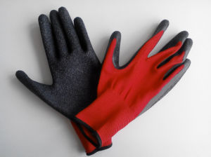 Polyester Shell Latex Coated Safety Work Glove (L1601) pictures & photos