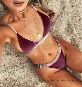 2017 Top Selling Ladies Velvet Sexy Bikini pictures & photos