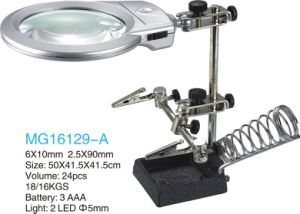 6X10mm/2.5X90mm Auxiliary Clip Magnifier with LED Lamp pictures & photos