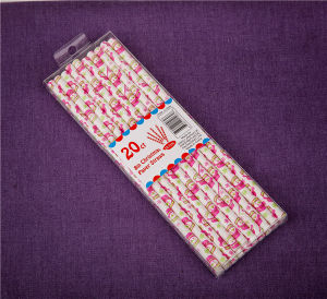 Disposable Party Paper Drinking Straws Paper Straws with OPP Bag and Header Card pictures & photos