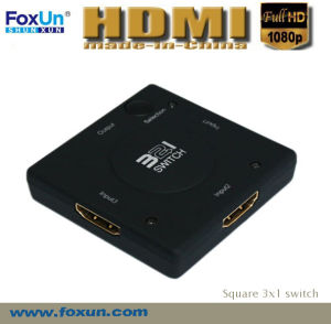 Mini 3 Port HDMI Switch Support 1080p
