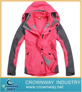 Ladies 3 in 1 Ski Jacket with Printing (CW-SKIW-26) pictures & photos