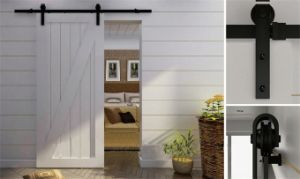 Whloesales Wooden Barn Sliding Barn Door Hardware (LS-SDU-1003) pictures & photos