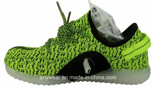 Athletic Footwear Flyknit LED Light Sports Shoes (816-7914) pictures & photos