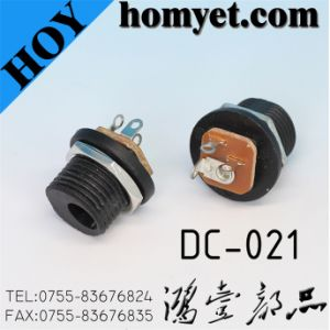DC Power Jack with Straight Blade (DC-021) pictures & photos