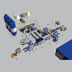2013 Full Automatic Cement Brick Machine Production Line (QT10-15)