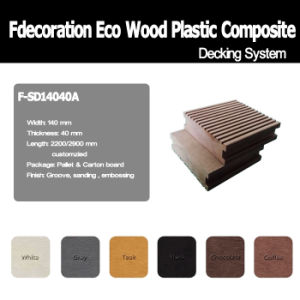 Eco Wood Plastic Composite Decking WPC Flooring pictures & photos