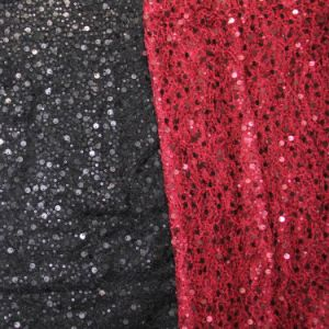 Nylon Spandex Lace Embroidery with 2size Sequin
