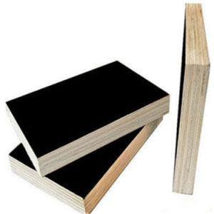 Black Film Laminated Plywood Poplar Core Phenolic Glue pictures & photos
