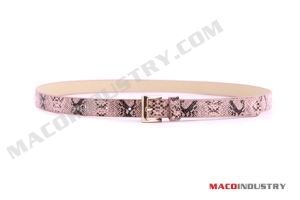 Ladies Snake Print PU Belt (Maco230)