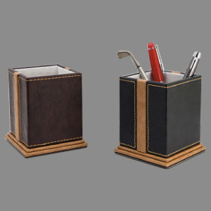 Decorative Stitched Leather Pen Holders pictures & photos