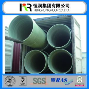 Reinforced Plastic Mortar Pipe/ GRP FRP Pipe with Wras / ISO 14001 Certificate pictures & photos