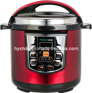 Micro Computer and Fashion Red Body Electric Pressure Cooker