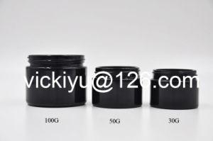 100g Cream Black Glass Bottles, Purple Black Glass Bottles, Medicine Violet Glass Bottles pictures & photos