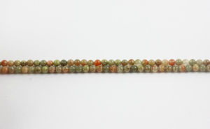 Landmass Unakite Plain Rounds Gemstone Beads (SL72114)