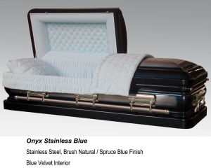 Onyx Stainless Blue Casket