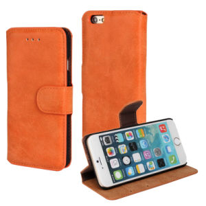 Many Color Mobile Cell Phone Leather Filp Case for iPhone 6 pictures & photos