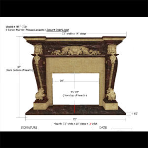 Multi-Colored Fireplace for Home Decoration & Building Material Mfp-729 pictures & photos