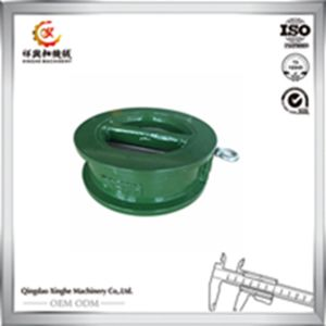 Custom Precision Sand Casting Ggg60 Ductile Iron Casting with Painted Green pictures & photos