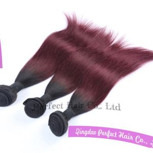 Customed Natural Black Pure Dye Two Tone Remy Hair Extension pictures & photos