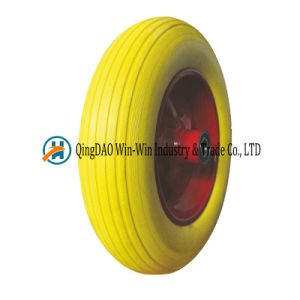 14*3.50-8 Solid Polyurethane Foam Wheelbarrow Tire with Spoke Color pictures & photos
