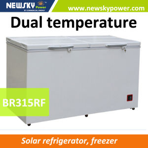 315L 12V 24V Solar Refrigerator Fridge Freezer pictures & photos