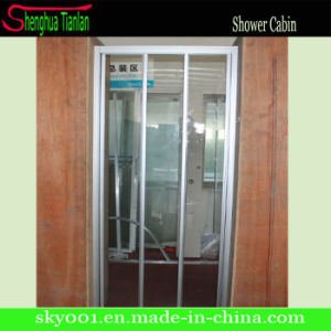 3 Panel Tempered Glass Frame Sliding Shower Door (TL-409) pictures & photos