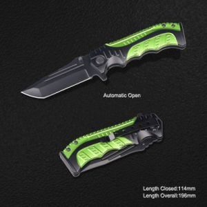 Folding Knife with Anodized Aluminum Handle (#3840) pictures & photos