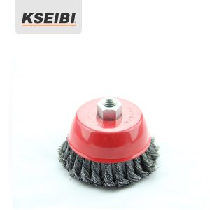 Kseibi Twisted Knot Wire Cup Steel Brush with Nut pictures & photos