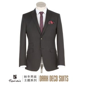 OEM 2 Piece Peak Lapel Classic Fit Men′s Business Suit pictures & photos