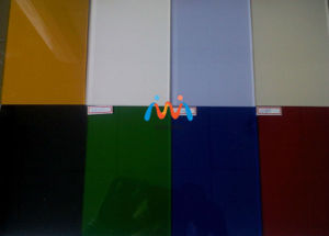 Red, Blue, Green Painted Glass Countertops Panels
