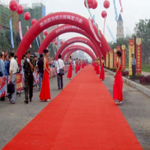 Nonwoven Polyester Plain Red Exhibition Carpet pictures & photos