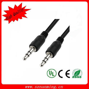 3.5mm Male to Male Round Audio Cable for MP3 MP4 pictures & photos