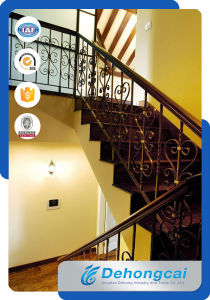 Modern Wrought Iron Staircase Balustrade Handrail / Steel Staircase Hand Railing pictures & photos