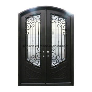 Eyebrow Wrought Iron Residential Entry Doors pictures & photos