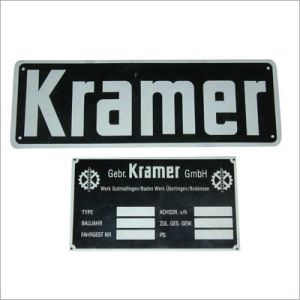 Aluminum Plate with Embossed Logo and Strong Adhesive on Back pictures & photos