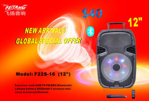 12 Inch Trolley Stage Speaker with Good Price F22S-16 pictures & photos