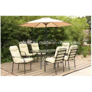 Outdoor Patio Dining Chair Furniture with Parasol